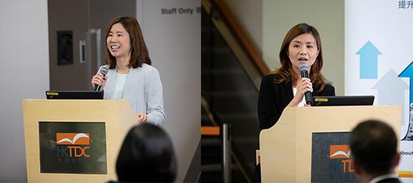左: 王婉蓉, 右: 關月儀