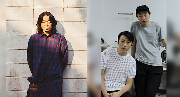 (左起) 落合宏理,吳震邦和黃幸祺