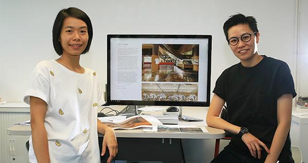 右: 李泇定, 左: 劉宛姍