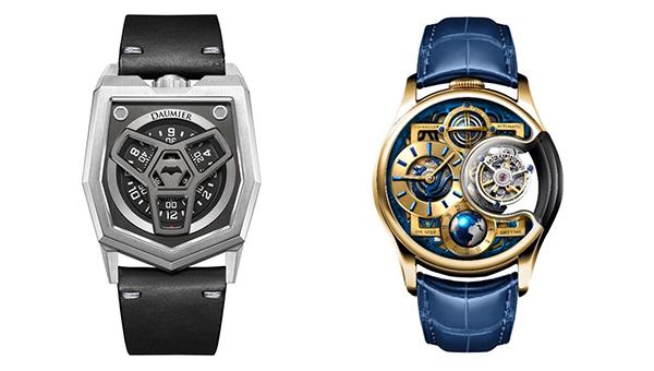 左圖:迪維亞系列腕表,右圖:尊爵版星恆系列手表