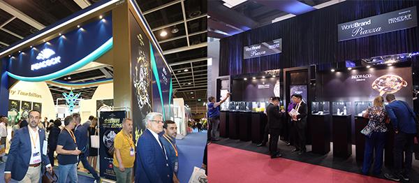 左圖: 香港鐘表展, 右圖: 國際名表薈萃