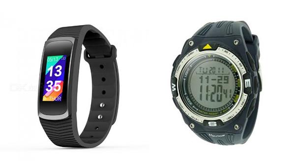 左圖:「SMA-B3」智能手表, 右圖:YP08394智能手表