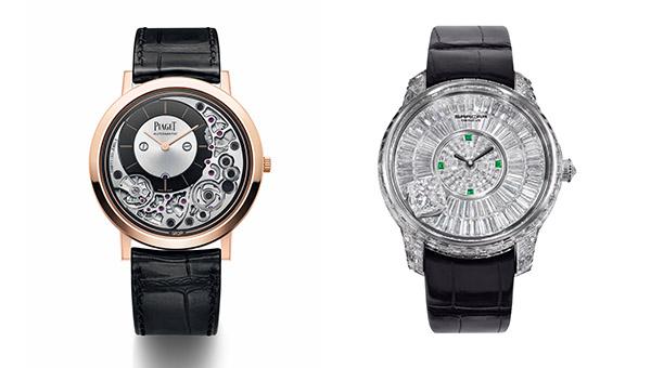 左圖 : 伯爵腕表, 右圖 : 豪門世家腕表