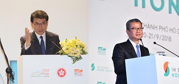 邱騰華(左),陳茂波(右)