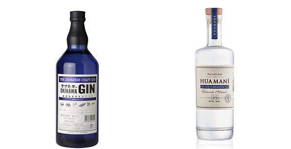 左圖: Masahiro Okinawa Craft Gin(Recipe 1),右圖: Pisco Huamani