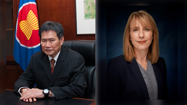 林玉輝(左), 蕙嘉琳(Karen Reddington)(右)