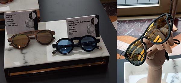 左圖: bob sdrunk 及HEX眼鏡, 右圖: ITUM眼鏡