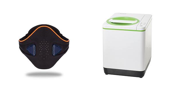防空氣污染口罩(左圖), 智能家用廚餘處理機(右圖)