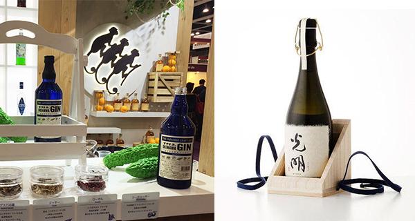 左圖: 日本的手工氈酒,右圖: 日本的楯野川光明清酒