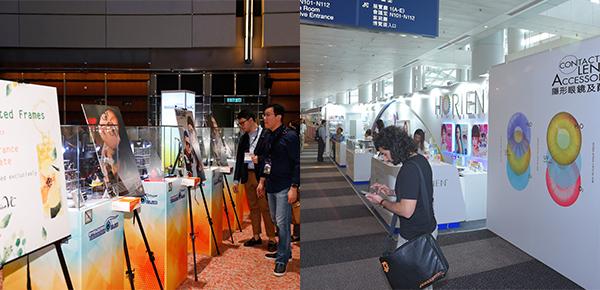 「品牌廊」(左圖),「隱形眼鏡及配件」展區(右圖)