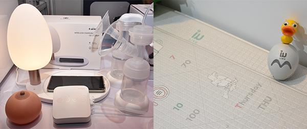 韓國泵奶器(左圖), 韓國地蓆及聰明筆學習套裝(右圖)