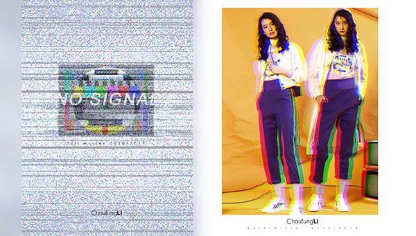 彩色條紋及圓形圖案
