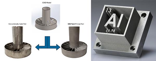 金屬模具(左圖), 鋁合金模具(右圖)