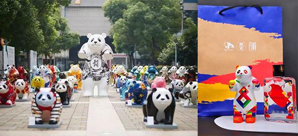 立體雕塑HeArt Panda