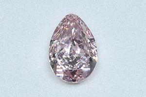 5.01卡梨形濃彩粉紅鑽石