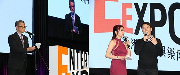 左圖:陳茂波, 右圖右:黎明