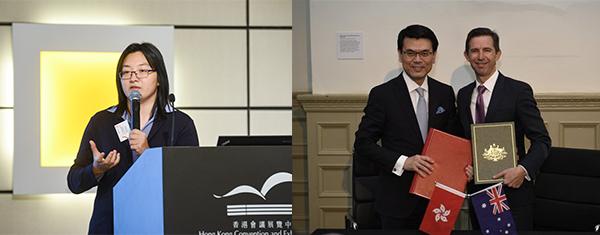 左圖:馬穎德, 右圖:邱騰華與伯明翰