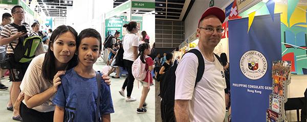 左圖:陳小姐和兒子, 右圖:Ellison Martin