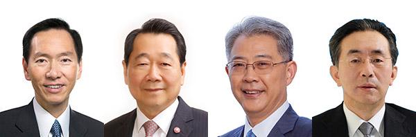 (左起)陳智思, 謝國民, 李曉鵬, 晏志勇