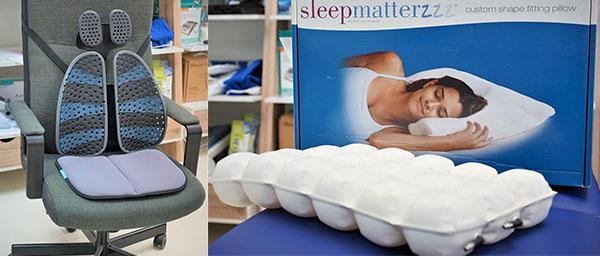 腰墊和座墊, 健康枕