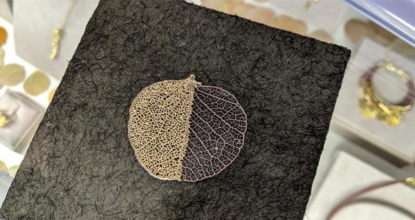 天然樹葉首飾