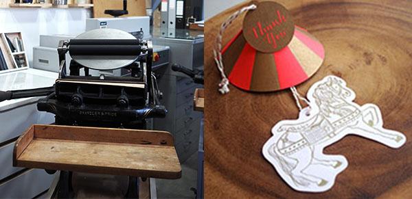 手搖活版印刷機,旋轉木馬吊牌