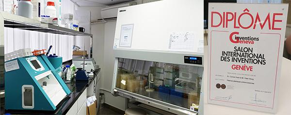 左起:實驗室,國際獎項