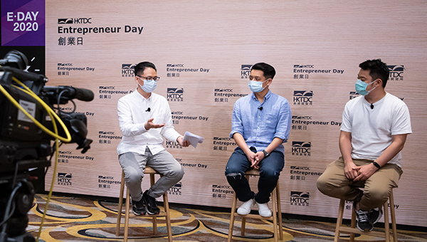 (左起)Marco Chen、麥景堂、羅傑誼