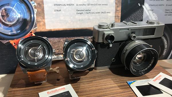 仿相機鏡頭的石英錶
