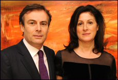 Pascal and Sylvie de Sarthe, founders, de Sarthe Gallery in Central