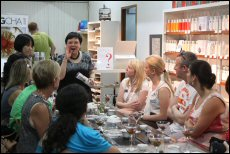 Mingcha Director Vivian Mak leads a workshop to help customers develop an appreciation for tea