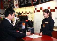 Coffee retail chain Pacific Coffee Company developed a iPhone app to allow customers to pay for item