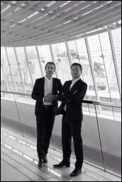 Former management consultant Alexis Zirah (left), banker Florian Martigny (right)