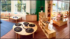 A variety of sections, indoors and out, promote inquiry-based learning