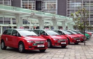 BYD's electric taxi fleet