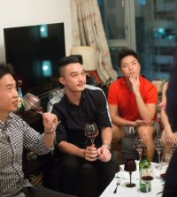 Friends gather for an evening of private wine-tasting