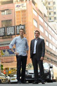 Lewis (left) and Stuart Cerne