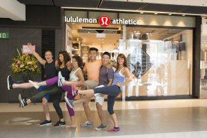 lululemon brand ambassadors strut their stuff at the ifc store opening