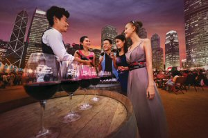 Victoria Harbour provides a stunning backdrop to Hong Kong Wine and Dine Festival