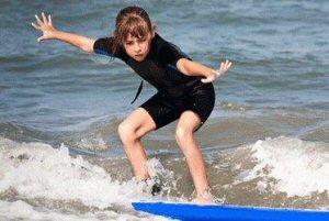 Learning to surf at Treasure Island camp, Lamma Island