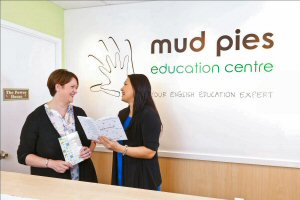 Liz Search (left), founder and Director of English language centre Mud Pies Education
