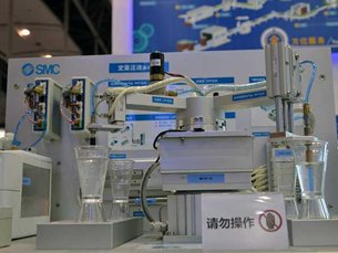 SMC's dispense pump demo unit
