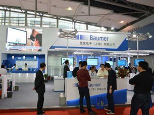 Baumer's busy exhibition stand