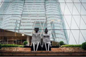 metal sculptures by British artist Lynn Chadwick