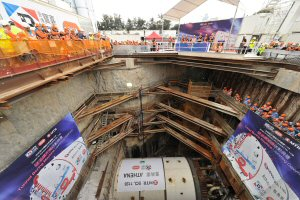 Tunnelling works on the Shatin to Central Line for the MTR Corporation