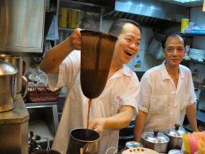 Milk tea-making, Hong Kong style