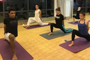 A Tongtai yoga class