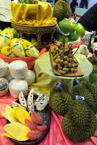 Exotic fruits at premium prices