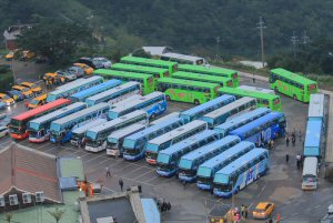 Idling buses