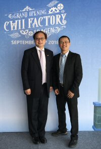 Leung Kwan-ho (left), with Mr Chiu